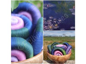Monet's Lily Pond Gradient Rolags - 100g