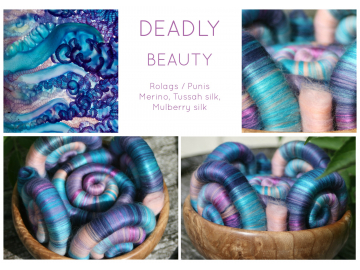 Deadly Beauty Rolags / Punis - 100g