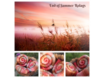 End of Summer Rolags - 100g