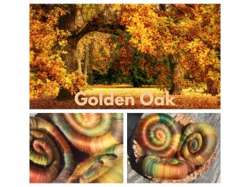 Golden Oak Rolags - 100g