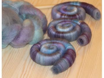 Dusky blue, pink and grey braid