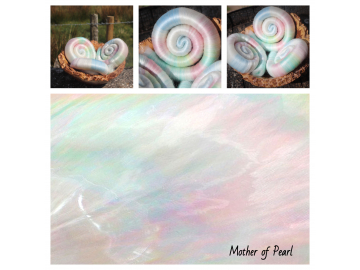 Mother of Pearl rolags - 100g