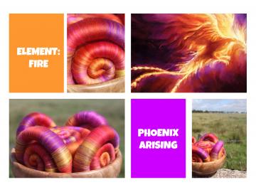 Phoenix Arising rolags - 100g