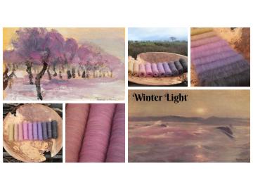 Winter Lights Gradient Batt Set - 150g